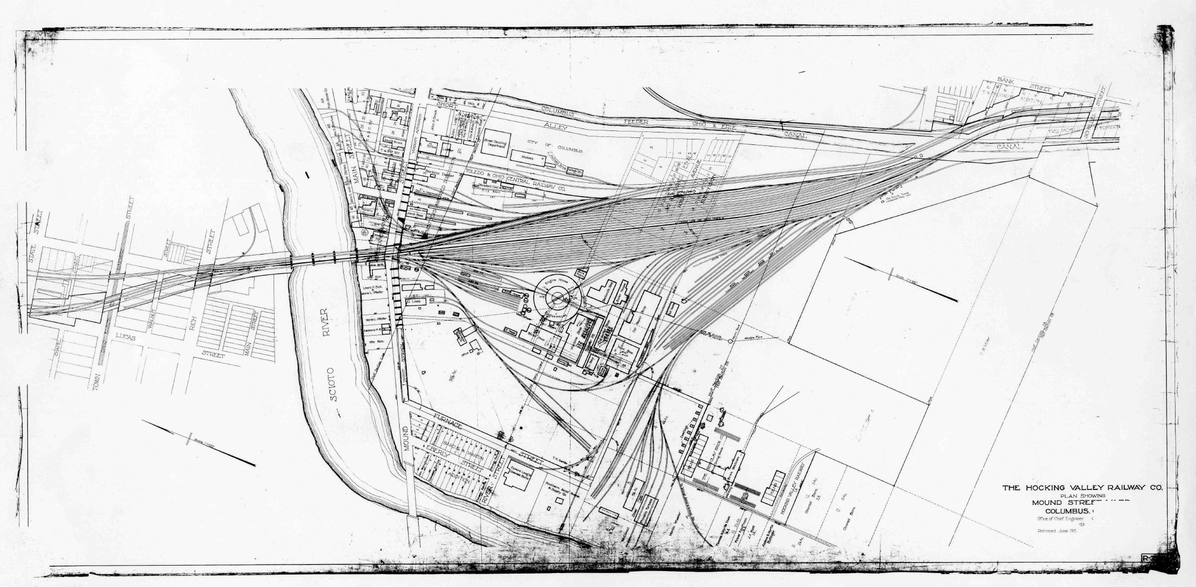 Map_Mound_Street_Yard786-2400 Railroad Yard Schematic Diagrams on computer circuit board, samsung lcd tv, am tube radio, sony tv, digital multimeter, hvac system,